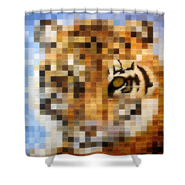 About 400 Sumatran Tigers Shower Curtain