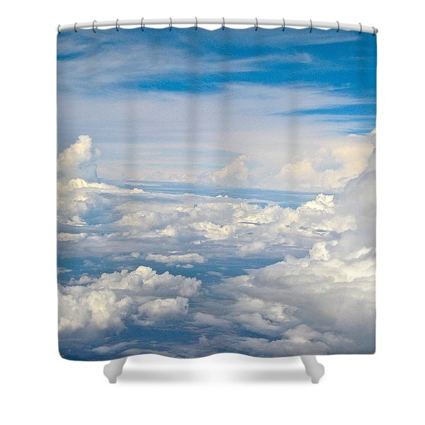 Above The Clouds Over Texas Image B Shower Curtain