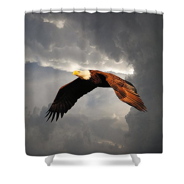 Above The Storm Shower Curtain