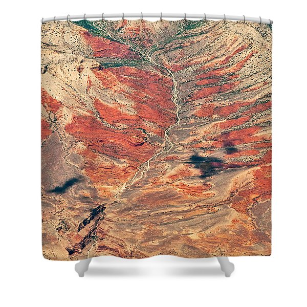 Shower Curtain featuring the digital art Above Timber Line by Mae Wertz