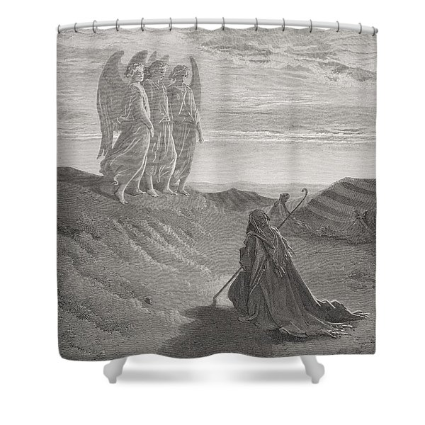 Abraham And The Three Angels Shower Curtain