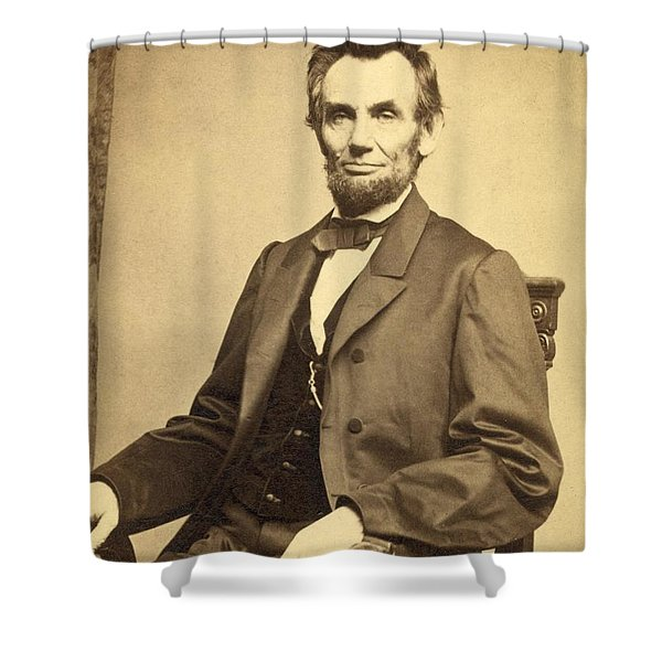 Abraham Lincoln 16th President Shower Curtain