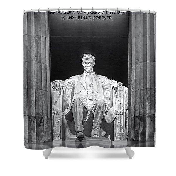Abraham Lincoln Memorial Shower Curtain