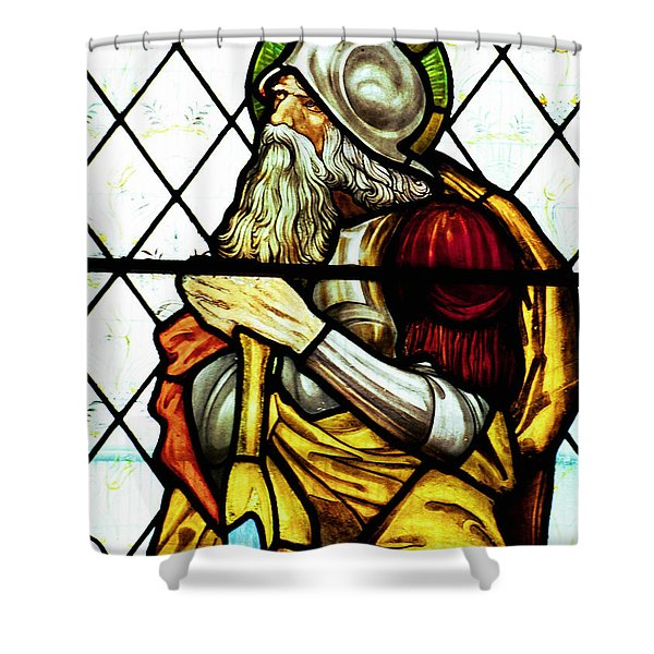 Abraham The Patriarch In Stained Glass Shower Curtain