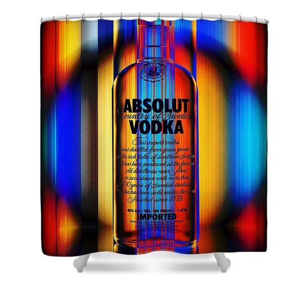 Absolut Abstract Shower Curtain