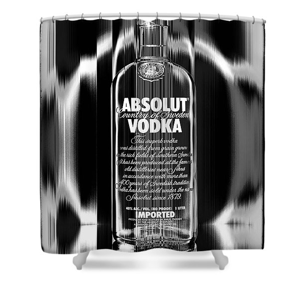 Absolut Black And White Shower Curtain