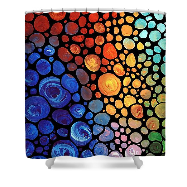 Abstract 1 - Colorful Mosaic Art - Sharon Cummings Shower Curtain