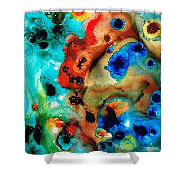 Abstract 4 - Abstract Art By Sharon Cummings Shower Curtain