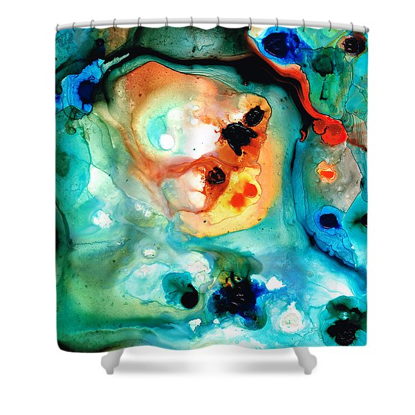 Abstract 5 - Abstract Art By Sharon Cummings Shower Curtain