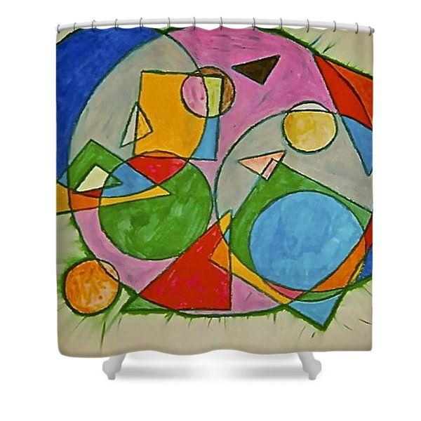 Abstract 89-001 Shower Curtain