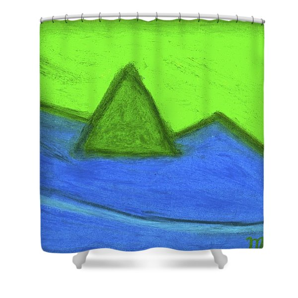 Abstract 92-001 Shower Curtain