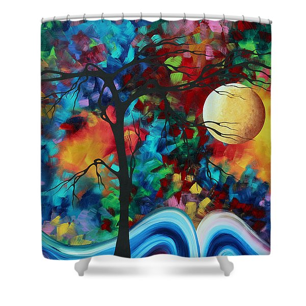 Abstract Art Original Enormous Bold Painting Essence Of The Earth I By Madart Shower Curtain