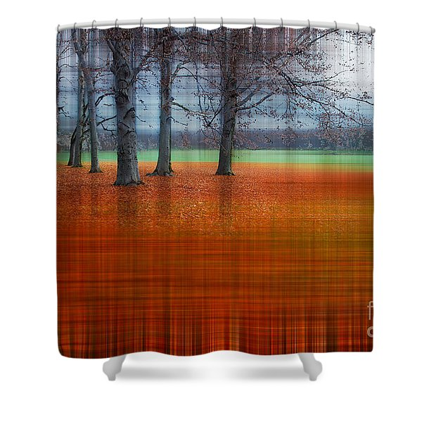 abstract atumn II Shower Curtain