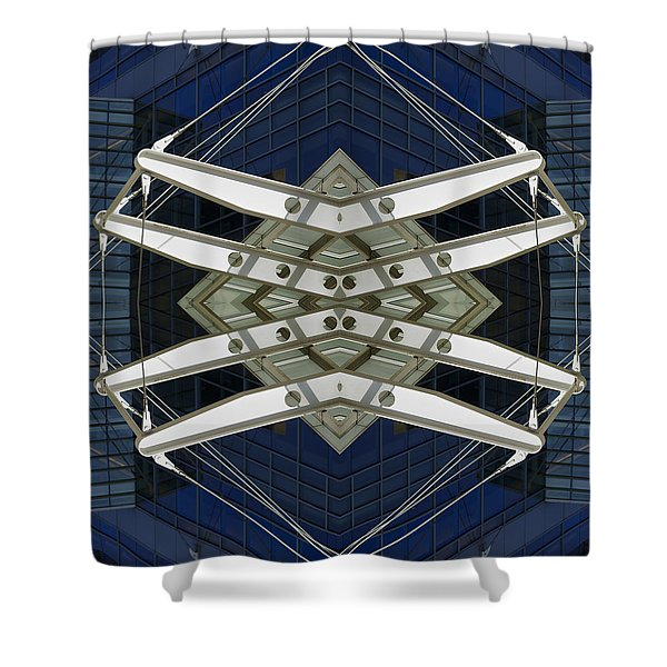 Abstract Construction Shower Curtain