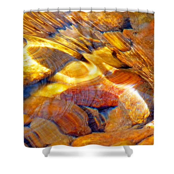 Abstract Creek Water 4 Shower Curtain