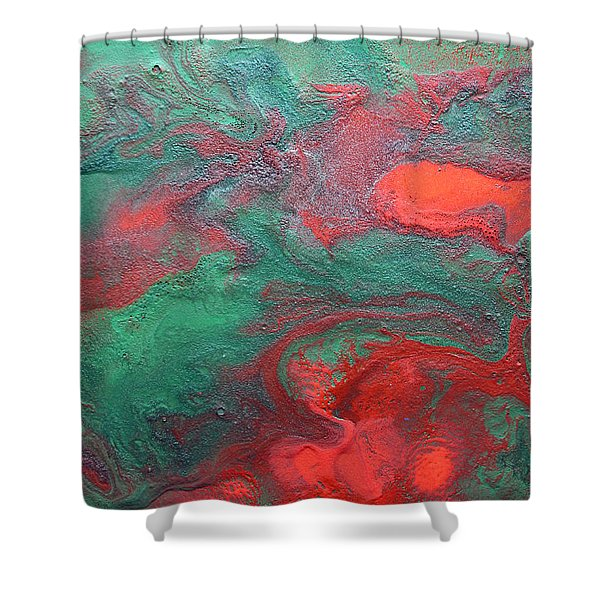 Abstract Evergreen Shower Curtain