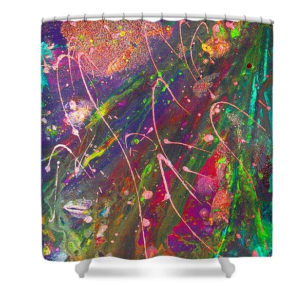 Abstract Fairy Night Lights Shower Curtain