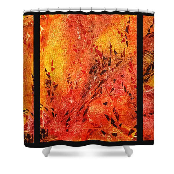 Abstract Fireplace Shower Curtain