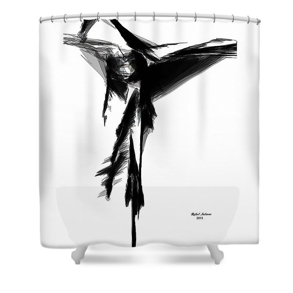 Abstract Flamenco Shower Curtain
