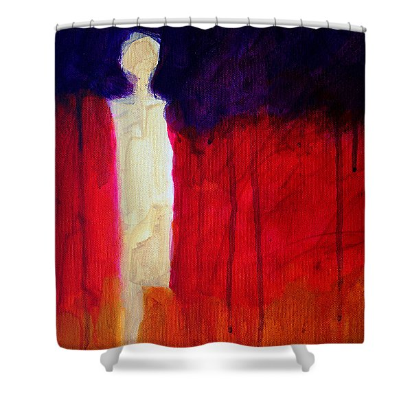 Abstract Ghost Figure No. 1 Shower Curtain