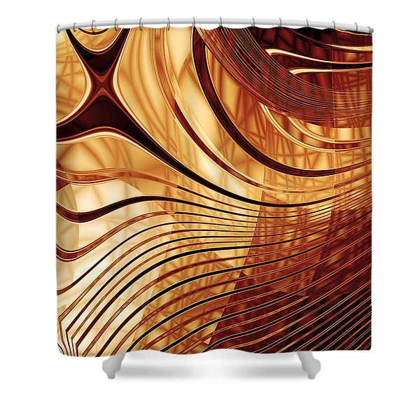 Abstract Gold 2 Shower Curtain