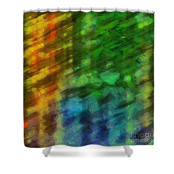 Abstract Lines 10 Shower Curtain