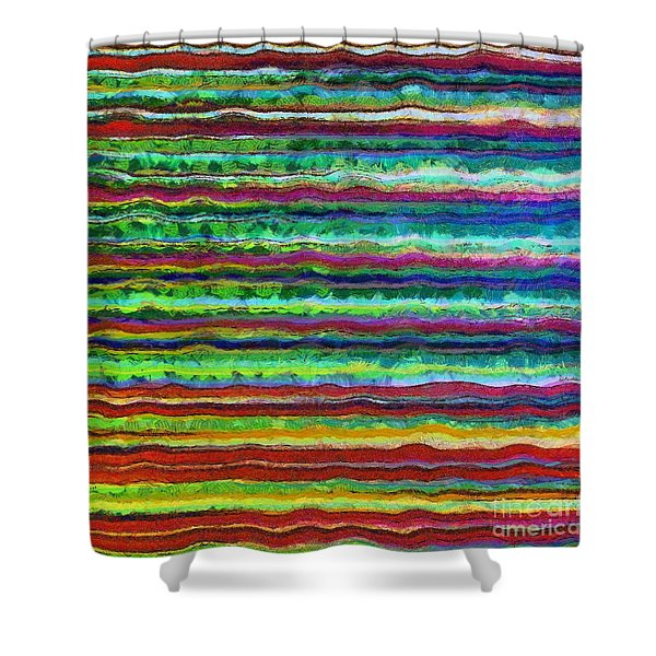 Abstract Lines 6 Shower Curtain