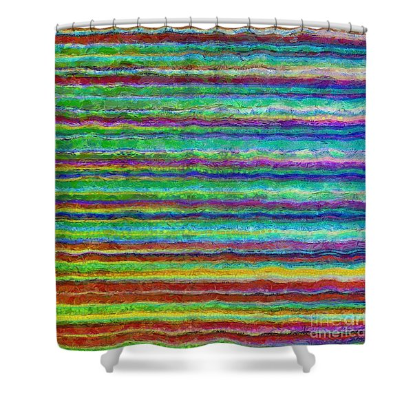 Abstract Lines 8 Shower Curtain