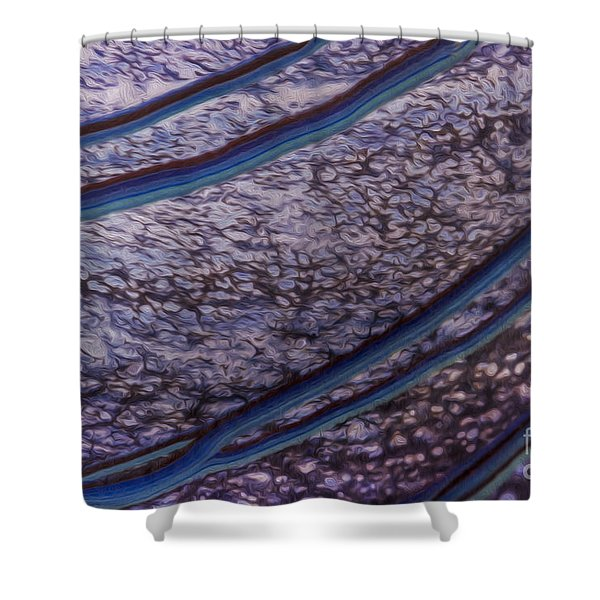 Abstract Lines. Shower Curtain