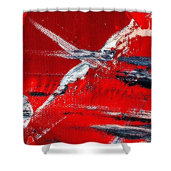 Abstract Original Artwork One Hundred Phoenixes Untitled Number Seven Shower Curtain