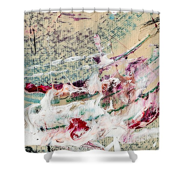 Abstract Original Painting Number Eight Shower Curtain