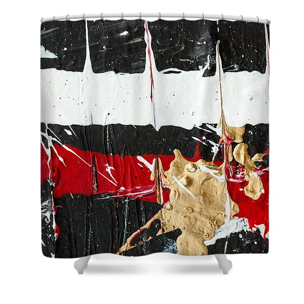 Abstract Original Painting Number Five Shower Curtain