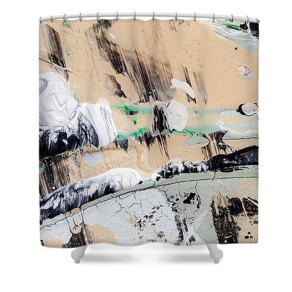 Abstract Original Painting Number Seven  Shower Curtain