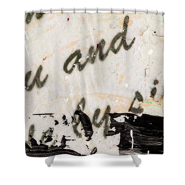 Abstract Original Painting Number Six Shower Curtain