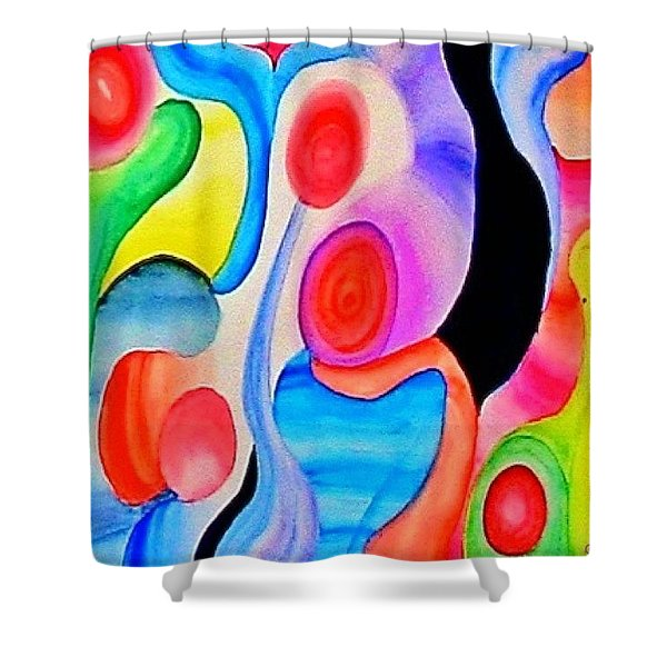Abstract Peacock Shower Curtain