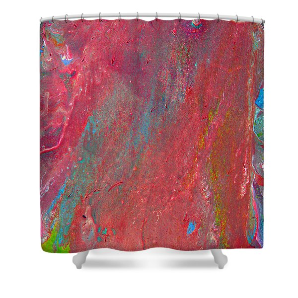 Abstract Red Rain Shower Curtain