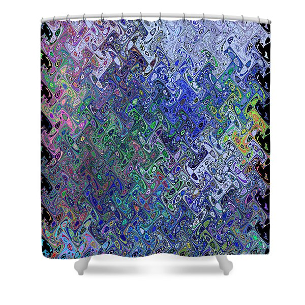 Abstract Reflections Shower Curtain