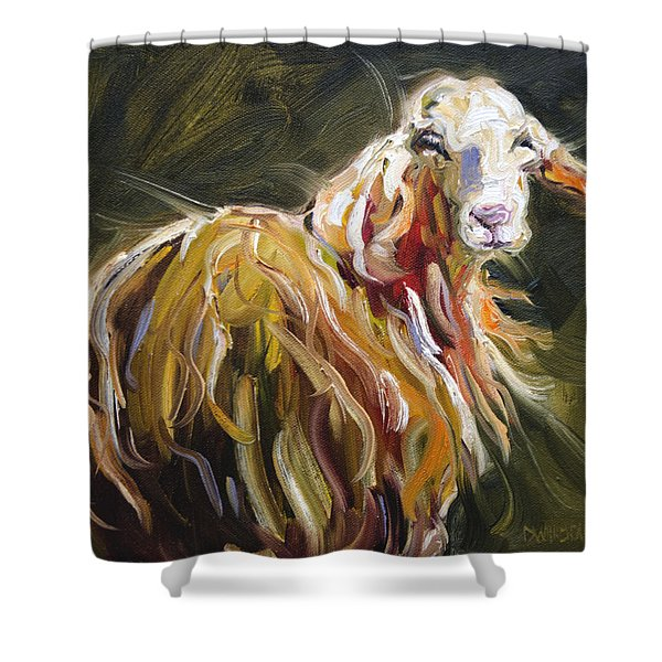 Abstract Sheep Shower Curtain
