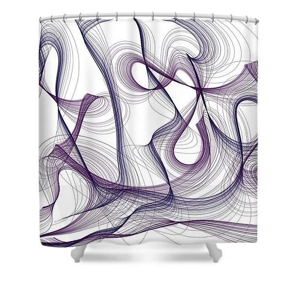 Abstract Thoughts Shower Curtain