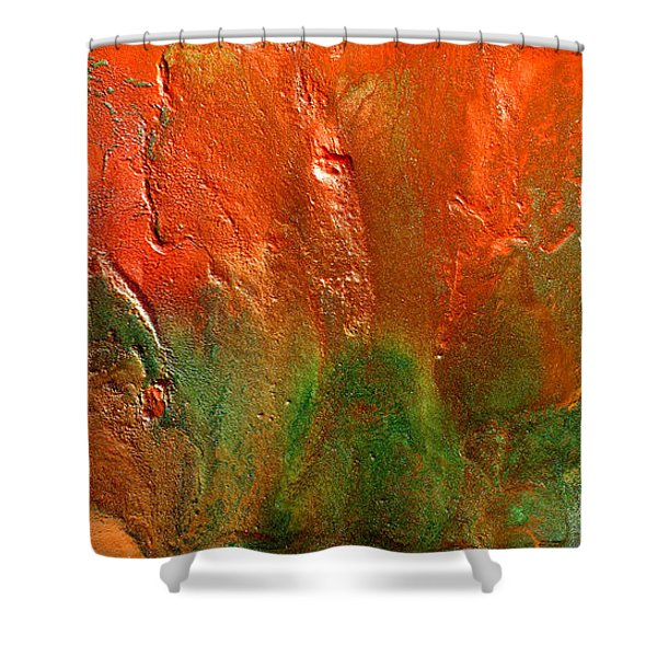 Abstract Vintage Landscape  Shower Curtain