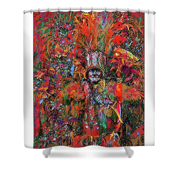 Abstracted Mummer Shower Curtain