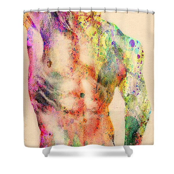 Abstractiv Body  Shower Curtain