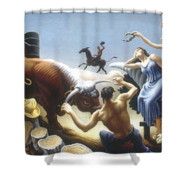 Achelous And Hercules Shower Curtain