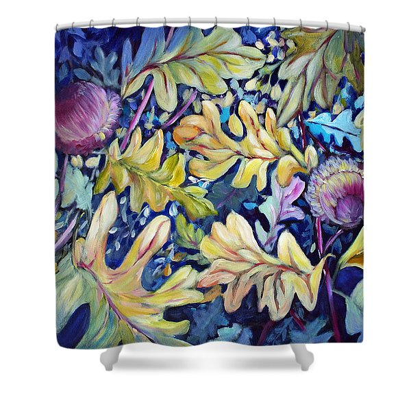 Acorns And Oak Leaves Shower Curtain