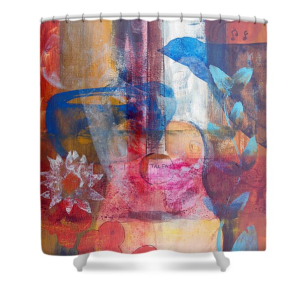 Acoustic Cafe Shower Curtain