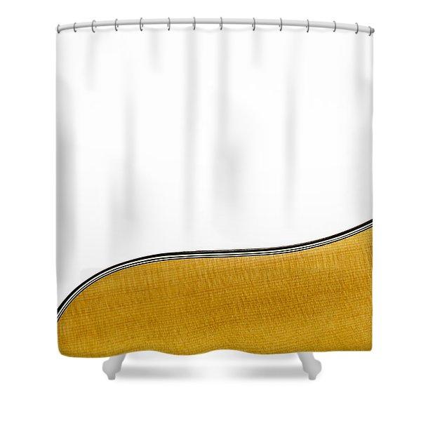 Acoustic Curve Shower Curtain