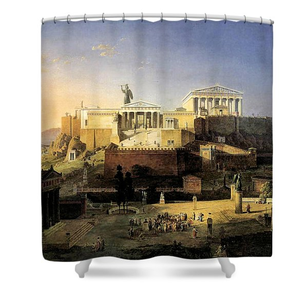 Acropolis Of Athens Shower Curtain