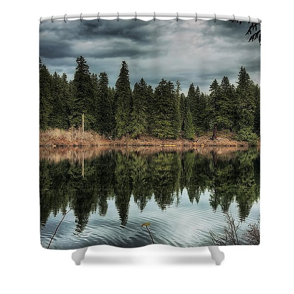 Across The Lake Shower Curtain