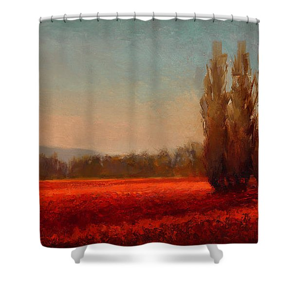 Across The Tulip Field - Horizontal Landscape Shower Curtain