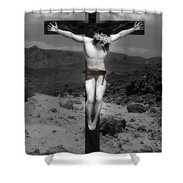 Jesus Christ Intact Shower Curtain